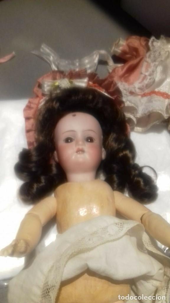 Muñecas Porcelana: C1890 - ANTIGUA MUÑECA ARTICULADA CON PELO NATURAL - MARCAS EN NUCA - ALEMANIA - VER FOTOS - Foto 9 - 194929052