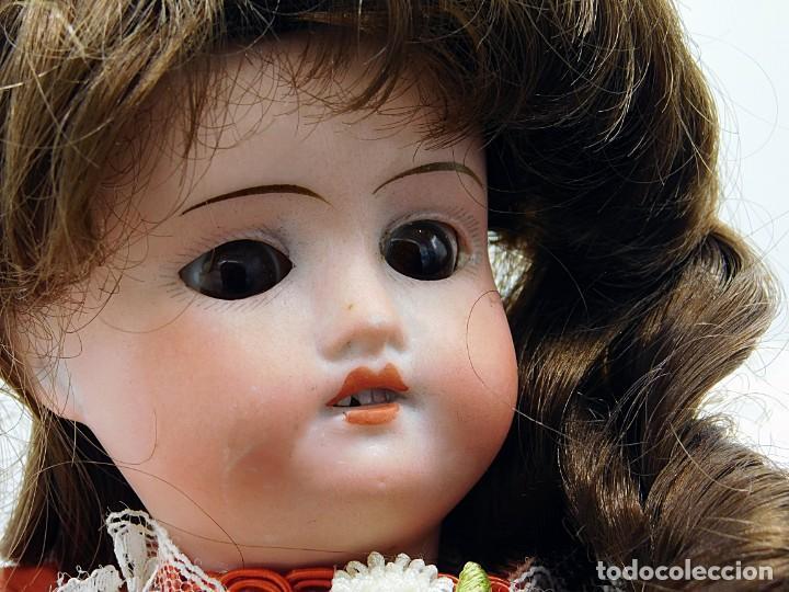 Muñecas Porcelana: C1890 - ANTIGUA MUÑECA ARTICULADA CON PELO NATURAL - MARCAS EN NUCA - ALEMANIA - VER FOTOS - Foto 2 - 194929052