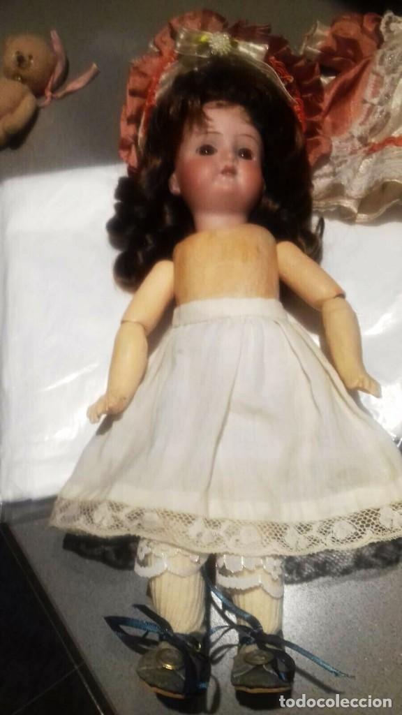 Muñecas Porcelana: C1890 - ANTIGUA MUÑECA ARTICULADA CON PELO NATURAL - MARCAS EN NUCA - ALEMANIA - VER FOTOS - Foto 12 - 194929052