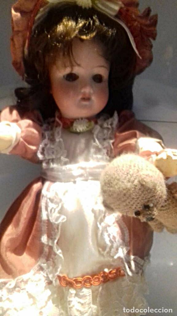 Muñecas Porcelana: C1890 - ANTIGUA MUÑECA ARTICULADA CON PELO NATURAL - MARCAS EN NUCA - ALEMANIA - VER FOTOS - Foto 14 - 194929052