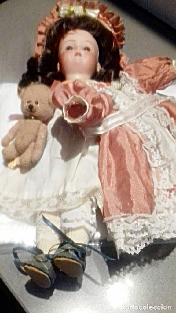 Muñecas Porcelana: C1890 - ANTIGUA MUÑECA ARTICULADA CON PELO NATURAL - MARCAS EN NUCA - ALEMANIA - VER FOTOS - Foto 15 - 194929052