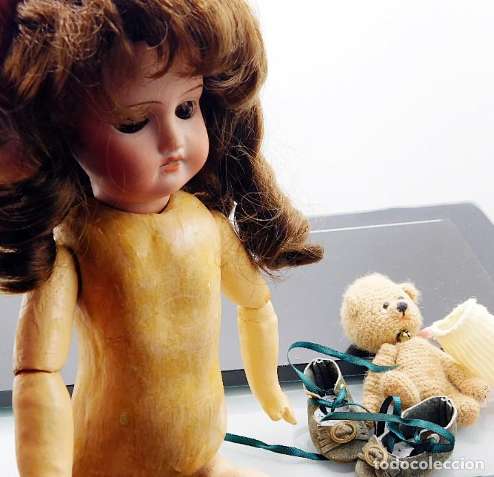 Muñecas Porcelana: C1890 - ANTIGUA MUÑECA ARTICULADA CON PELO NATURAL - MARCAS EN NUCA - ALEMANIA - VER FOTOS - Foto 3 - 194929052