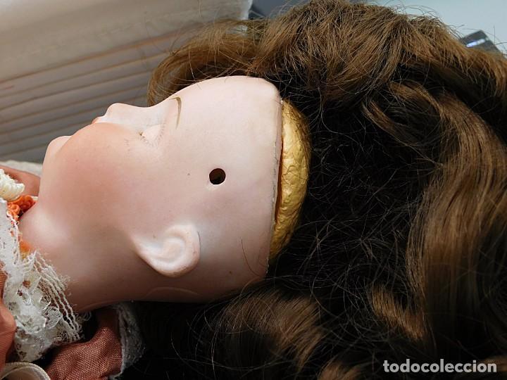 Muñecas Porcelana: C1890 - ANTIGUA MUÑECA ARTICULADA CON PELO NATURAL - MARCAS EN NUCA - ALEMANIA - VER FOTOS - Foto 5 - 194929052