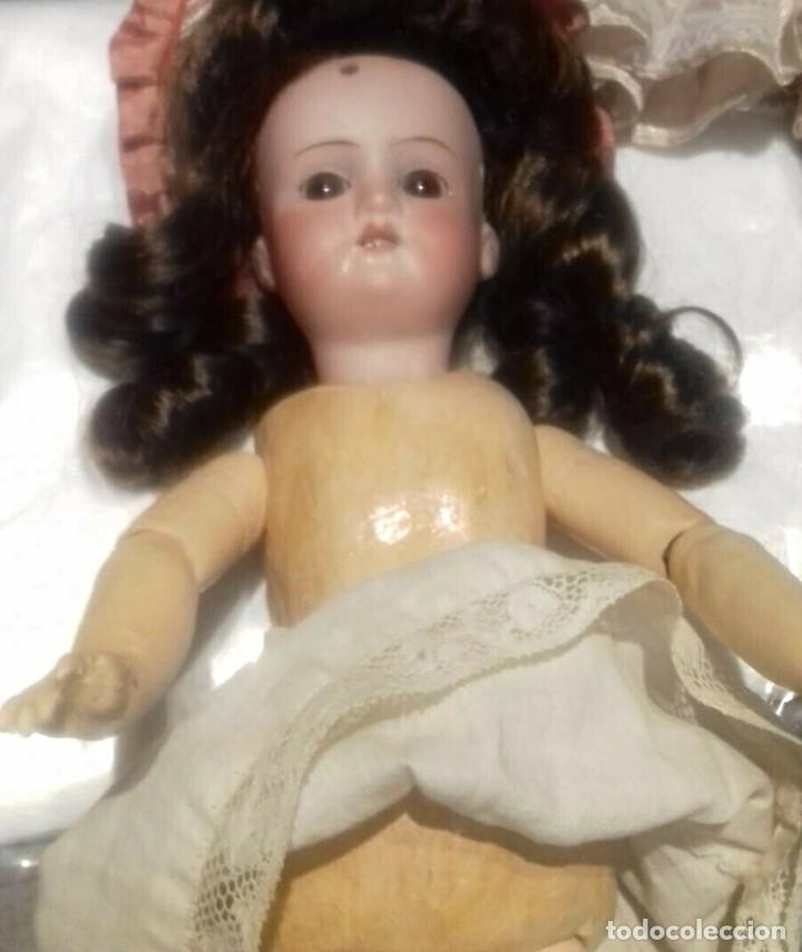 Muñecas Porcelana: C1890 - ANTIGUA MUÑECA ARTICULADA CON PELO NATURAL - MARCAS EN NUCA - ALEMANIA - VER FOTOS - Foto 6 - 194929052