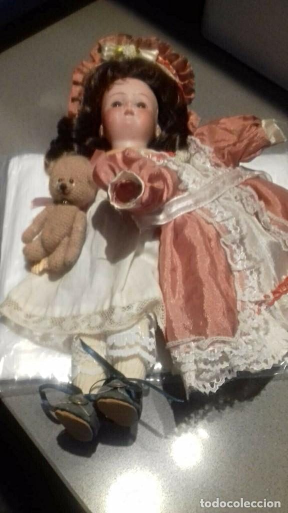 Muñecas Porcelana: C1890 - ANTIGUA MUÑECA ARTICULADA CON PELO NATURAL - MARCAS EN NUCA - ALEMANIA - VER FOTOS - Foto 25 - 194929052