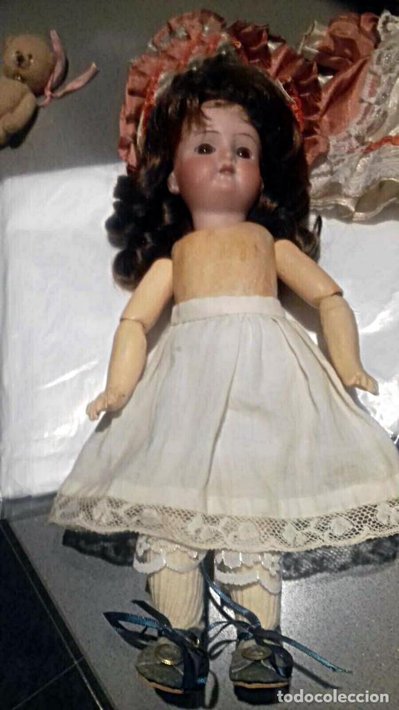 Muñecas Porcelana: C1890 - ANTIGUA MUÑECA ARTICULADA CON PELO NATURAL - MARCAS EN NUCA - ALEMANIA - VER FOTOS - Foto 27 - 194929052
