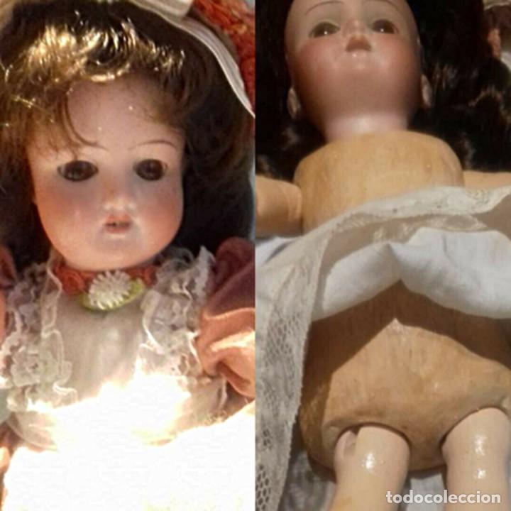 Muñecas Porcelana: C1890 - ANTIGUA MUÑECA ARTICULADA CON PELO NATURAL - MARCAS EN NUCA - ALEMANIA - VER FOTOS - Foto 4 - 194929052