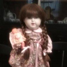 Muñecas Porcelana: MUÑECA ALEMANA MARCADA EN LA NUCA K & W 222 / 9 GERMANY. Lote 195066737