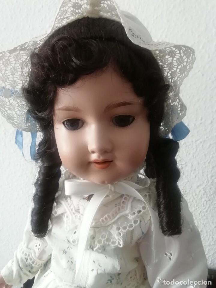 Muñecas Porcelana: PRECIOSA ARMAND MARSEILLE, 55CM APROX,MARCADA EN LA NUCA Y TAMBIEN EN EL CUERPO ,CON UNA (K) - Foto 2 - 195699687