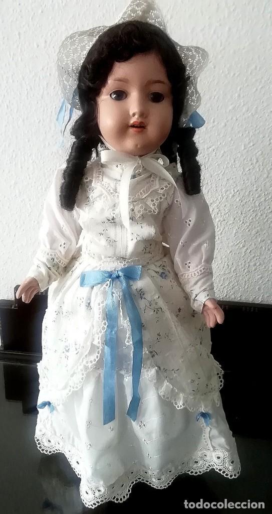 Muñecas Porcelana: PRECIOSA ARMAND MARSEILLE, 55CM APROX,MARCADA EN LA NUCA Y TAMBIEN EN EL CUERPO ,CON UNA (K) - Foto 5 - 195699687