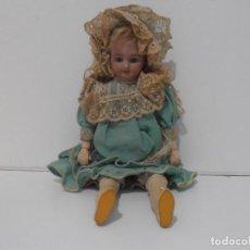 Muñecas Porcelana: PRECIOSA MUÑECA SIMON & HALBIG ROPA ORIGINAL, MARCA EN LA NUCA 1909, ALEMANA, PRINCIPIOS SXX. Lote 205181475