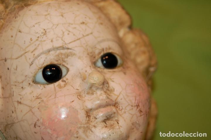 Muñecas Porcelana: antigua muñeca compo -cera de 1830-1860 - Foto 2 - 208218302