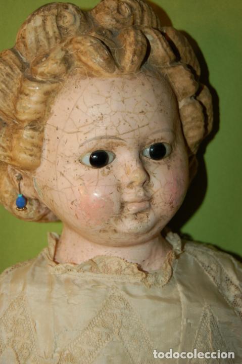 Muñecas Porcelana: antigua muñeca compo -cera de 1830-1860 - Foto 3 - 208218302
