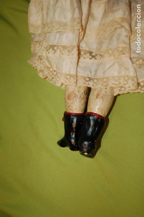 Muñecas Porcelana: antigua muñeca compo -cera de 1830-1860 - Foto 8 - 208218302