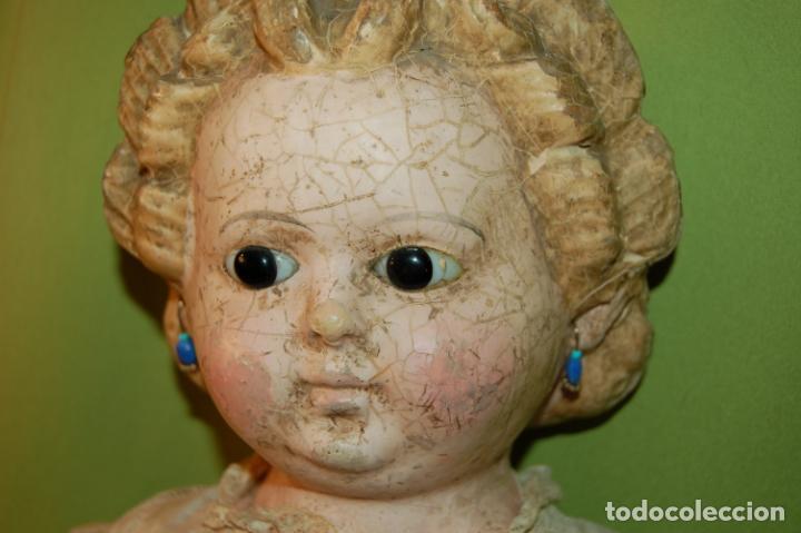 Muñecas Porcelana: antigua muñeca compo -cera de 1830-1860 - Foto 10 - 208218302