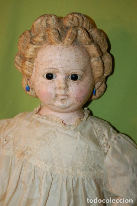 Muñecas Porcelana: antigua muñeca compo -cera de 1830-1860 - Foto 14 - 208218302
