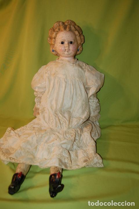 Muñecas Porcelana: antigua muñeca compo -cera de 1830-1860 - Foto 15 - 208218302