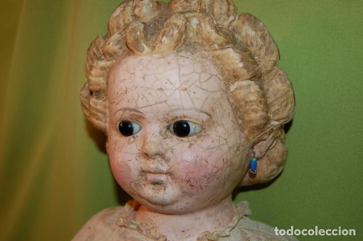 Muñecas Porcelana: antigua muñeca compo -cera de 1830-1860 - Foto 19 - 208218302