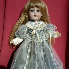 Muñecas Porcelana: ANTIGUA MUÑECA CABEZA DE PORCELANA MARCA TREBOR GERMANY. Lote 210972790