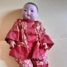 Muñecas Porcelana: MUÑECA ORIENTAL ALEMANA EN PORCELANA Y TRAPO RECKNAGEL. Lote 212409737