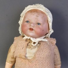 Muñecas Porcelana: MUÑECA ANTIGUA H.B GERMANY 50018-OJOS DORMILONES-AÑOS 20. Lote 213792478