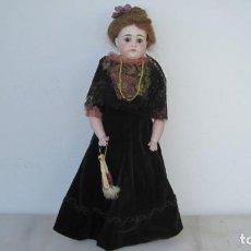 Muñecas Porcelana: MUÑECA LADY MUY ANTIGUA EN BISCUIT. BOCA CERRADA ABIERTA. MARCA: B GERMANY. 1880. 47 CM.. Lote 216484428