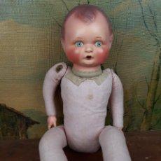 Muñecas Porcelana: MUÑECP CABEZA Y MANOS DE PORCELANA MARCADO EN NUCA B8. Lote 216493872