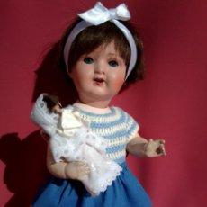 Muñecas Porcelana: MUÑECA DE PORCELANA ALEMANA MARCA KWG. Lote 216829448