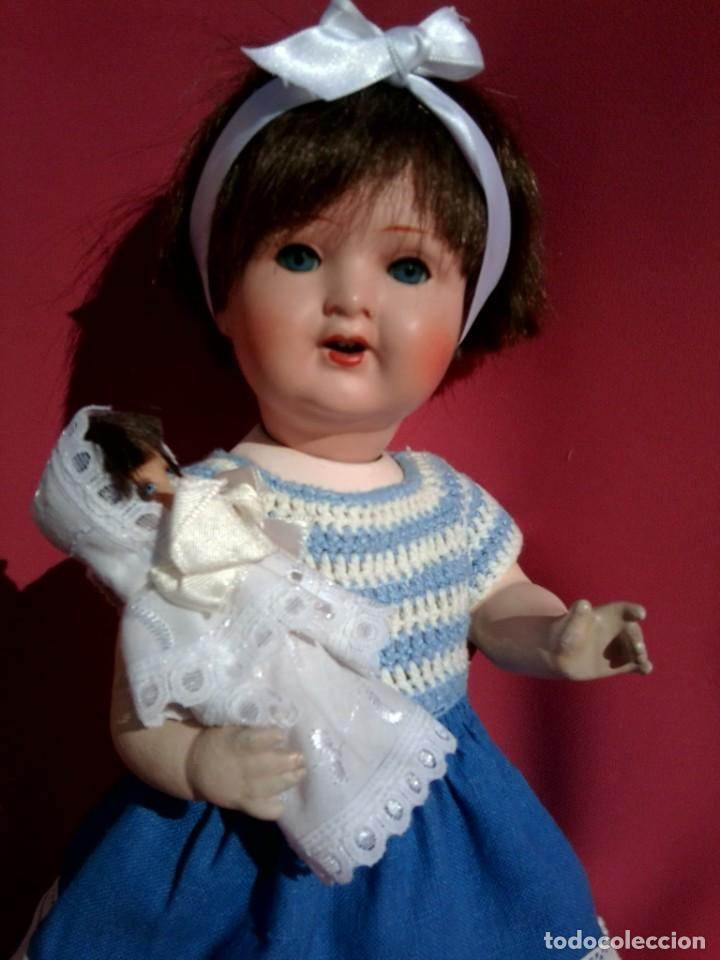 Muñecas Porcelana: Muñeca de porcelana Alemana Marca KWG - Foto 2 - 216829448