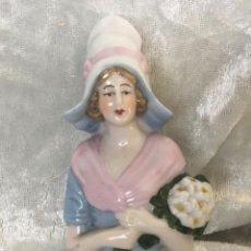 Poupées Porcelaine: MUÑECA HALF DOLL PORCELANA ESMALTADA CON DEFECTO. Lote 217237012