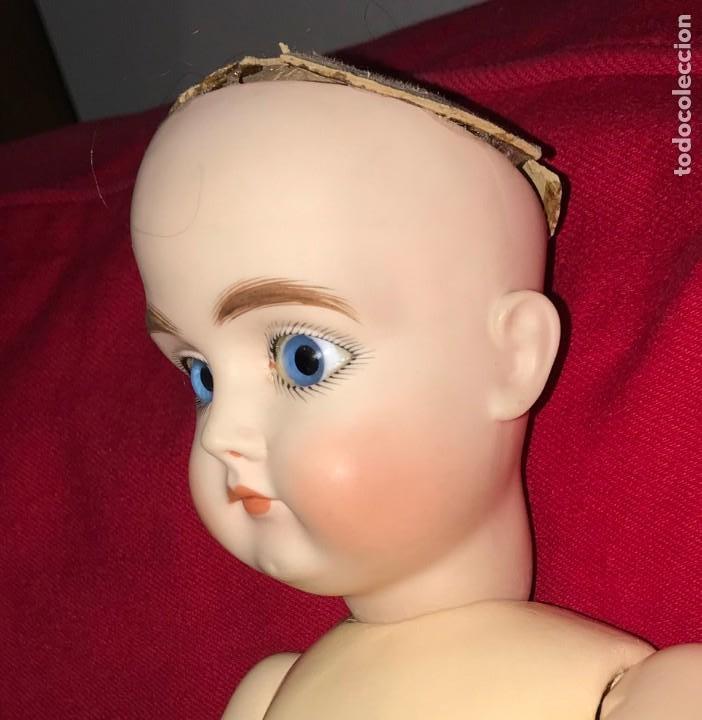 Muñecas Porcelana: MUÑECA DE PORCELANA ALEMANA DE REPRODUCCION, CON LAS SIGUIENTES MARCAS EN LA NUCA, F MADE in GER - Foto 4 - 219745068