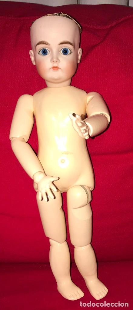 Muñecas Porcelana: MUÑECA DE PORCELANA ALEMANA DE REPRODUCCION, CON LAS SIGUIENTES MARCAS EN LA NUCA, F MADE in GER - Foto 3 - 219745068