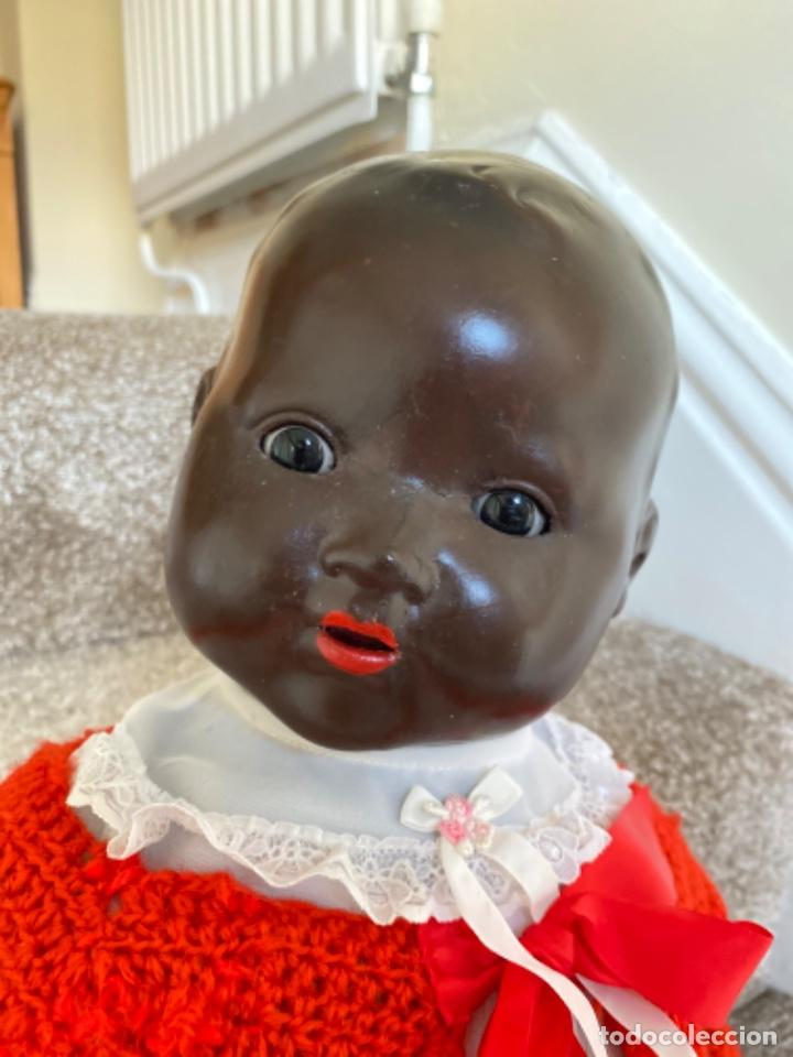 Muñecas Porcelana: Muñeca negro alemán Armand Marseille 351/ 6k 60cm mariquita - Foto 3 - 220439068