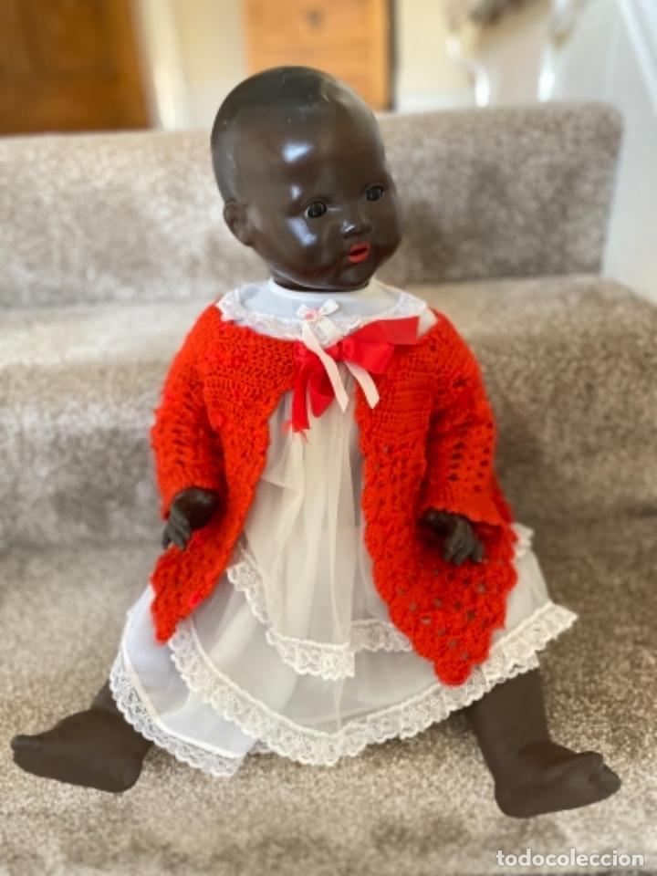 Muñecas Porcelana: Muñeca negro alemán Armand Marseille 351/ 6k 60cm mariquita - Foto 5 - 220439068