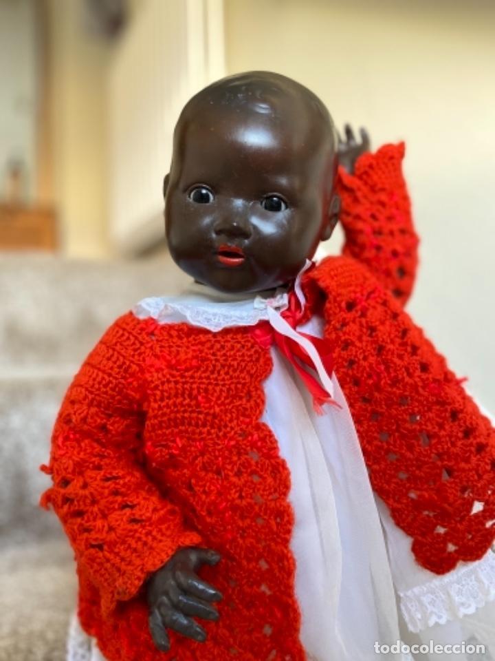 Muñecas Porcelana: Muñeca negro alemán Armand Marseille 351/ 6k 60cm mariquita - Foto 10 - 220439068