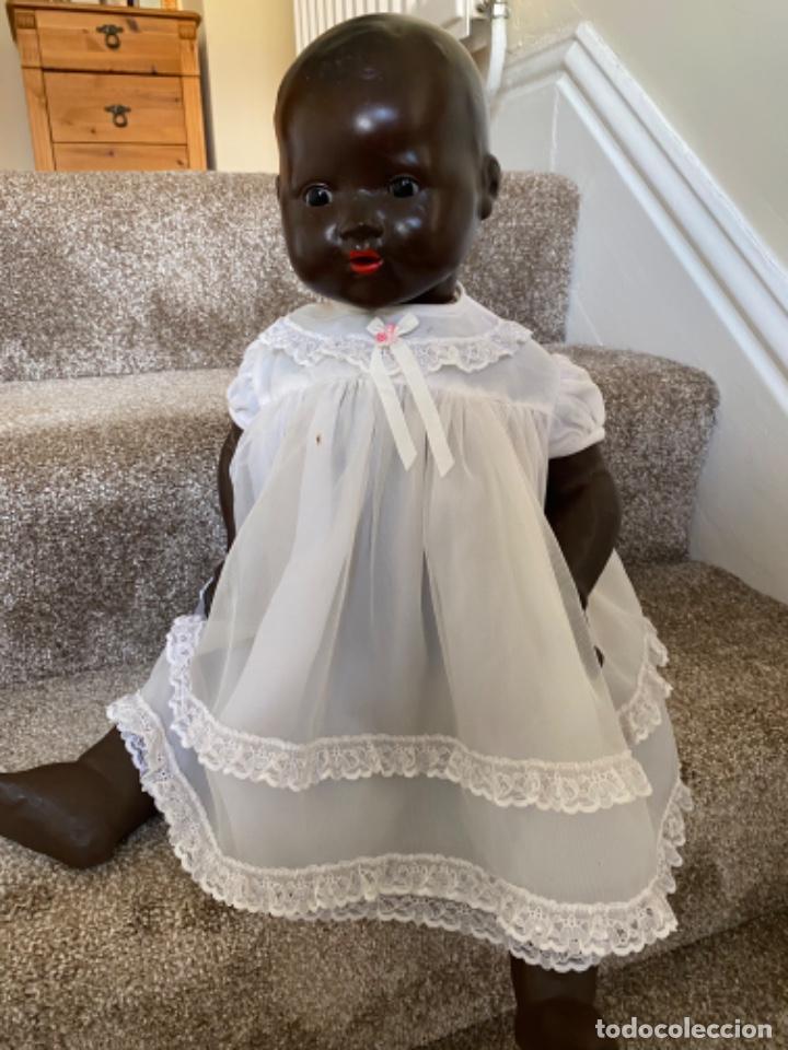Muñecas Porcelana: Muñeca negro alemán Armand Marseille 351/ 6k 60cm mariquita - Foto 17 - 220439068