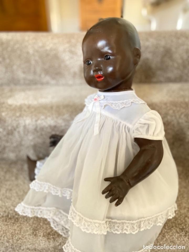 Muñecas Porcelana: Muñeca negro alemán Armand Marseille 351/ 6k 60cm mariquita - Foto 22 - 220439068