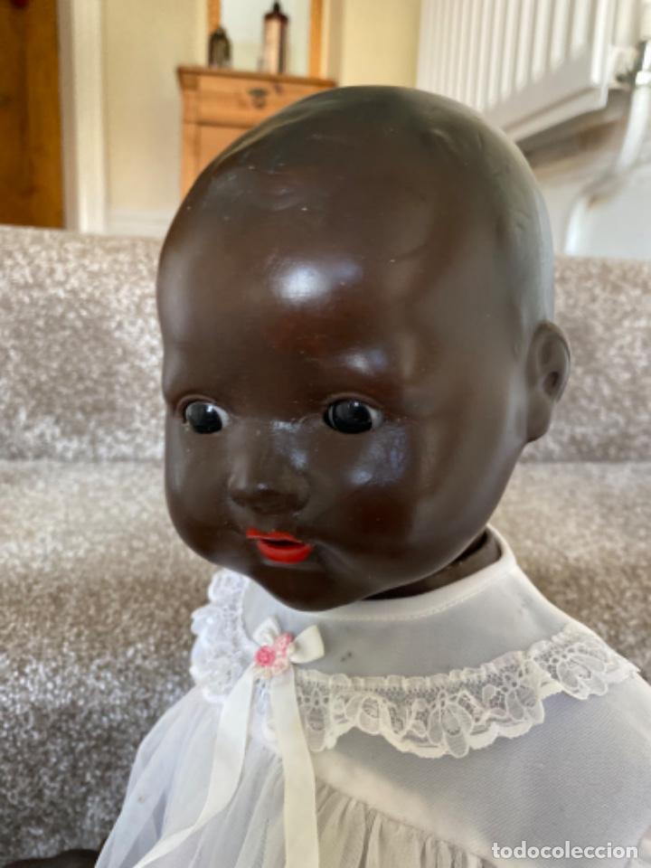 Muñecas Porcelana: Muñeca negro alemán Armand Marseille 351/ 6k 60cm mariquita - Foto 25 - 220439068