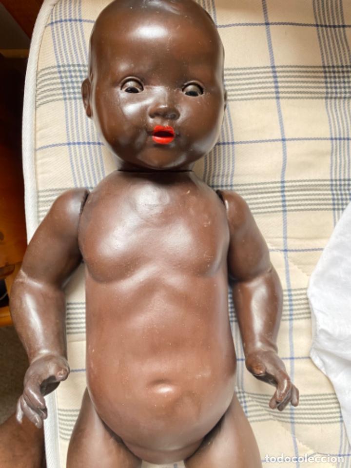 Muñecas Porcelana: Muñeca negro alemán Armand Marseille 351/ 6k 60cm mariquita - Foto 28 - 220439068