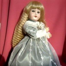 Muñecas Porcelana: ANTIGUA MUÑECA CABEZA DE PORCELANA MARCA TREBOR GERMANY. Lote 221620550