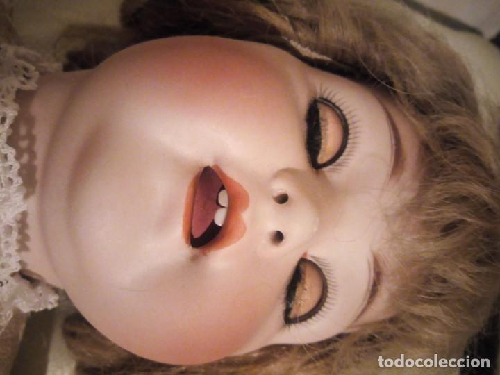Muñecas Porcelana: Antigua muñeca made in germany 18/10,cabeza de porcelana biscuit,cuerpo de madera articulado. - Foto 8 - 222953772