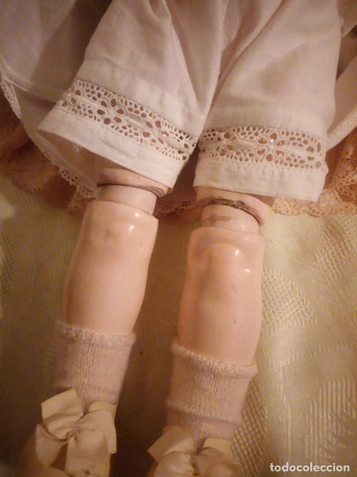 Muñecas Porcelana: Antigua muñeca made in germany 18/10,cabeza de porcelana biscuit,cuerpo de madera articulado. - Foto 10 - 222953772