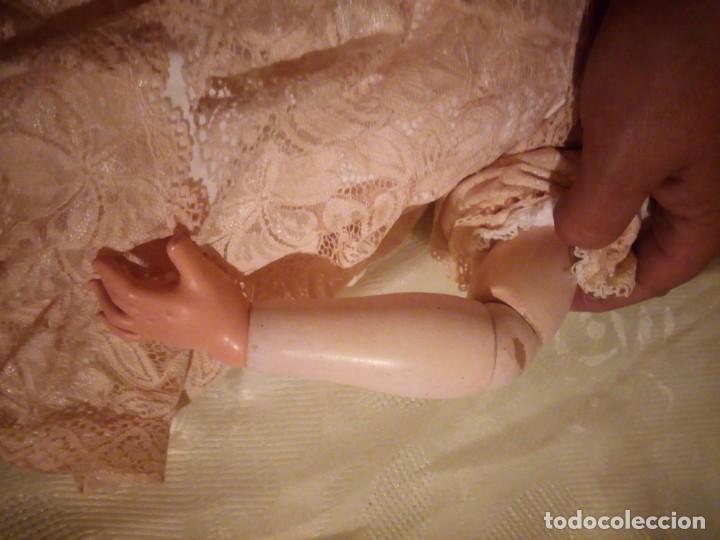 Muñecas Porcelana: Antigua muñeca made in germany 18/10,cabeza de porcelana biscuit,cuerpo de madera articulado. - Foto 15 - 222953772