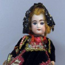 Muñecas Porcelana: MUÑECA TRAJE LAGARTERA ARMAND MARSEILLE AMD DEP 1894 GERMANY CABEZA PORCELANA CUERPO MADERA 36 CM. Lote 223363866