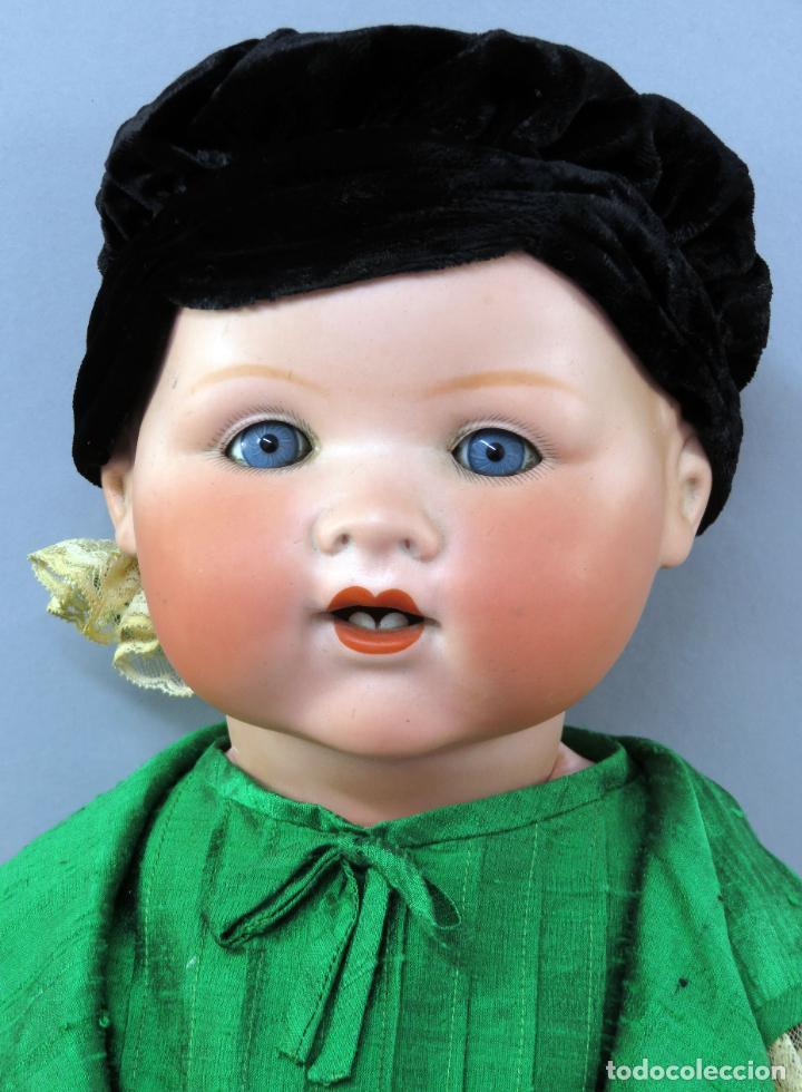 Muñecas Porcelana: Bebé Armand Marseille My dream baby 351 cabeza porcelana cuerpo madera ojo durmiente Germany 60 cm - Foto 3 - 223479545
