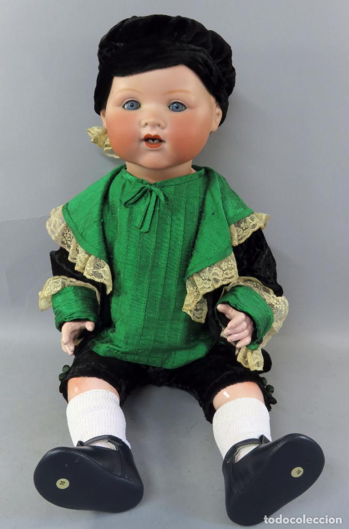 BEBÉ ARMAND MARSEILLE MY DREAM BABY 351 CABEZA PORCELANA CUERPO MADERA OJO DURMIENTE GERMANY 60 CM (Juguetes - Muñeca Extranjera Antigua - Porcelana Alemana)