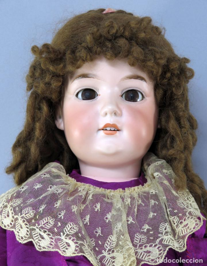 Muñecas Porcelana: Muñeca Armand Marseille cabeza porcelana cuerpo madera articulado ojo durmiente marca nuca 70 cm - Foto 3 - 223481650