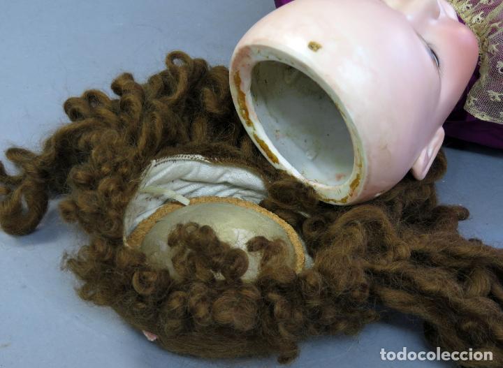 Muñecas Porcelana: Muñeca Armand Marseille cabeza porcelana cuerpo madera articulado ojo durmiente marca nuca 70 cm - Foto 16 - 223481650