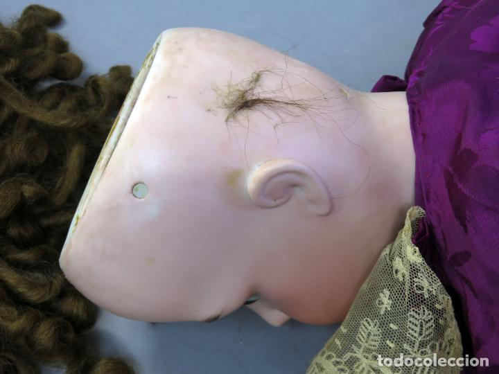 Muñecas Porcelana: Muñeca Armand Marseille cabeza porcelana cuerpo madera articulado ojo durmiente marca nuca 70 cm - Foto 17 - 223481650
