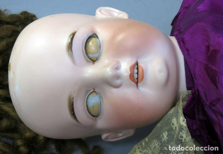 Muñecas Porcelana: Muñeca Armand Marseille cabeza porcelana cuerpo madera articulado ojo durmiente marca nuca 70 cm - Foto 21 - 223481650